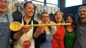kookstudio in amsterdam, winnaars van de kookwedstrijd